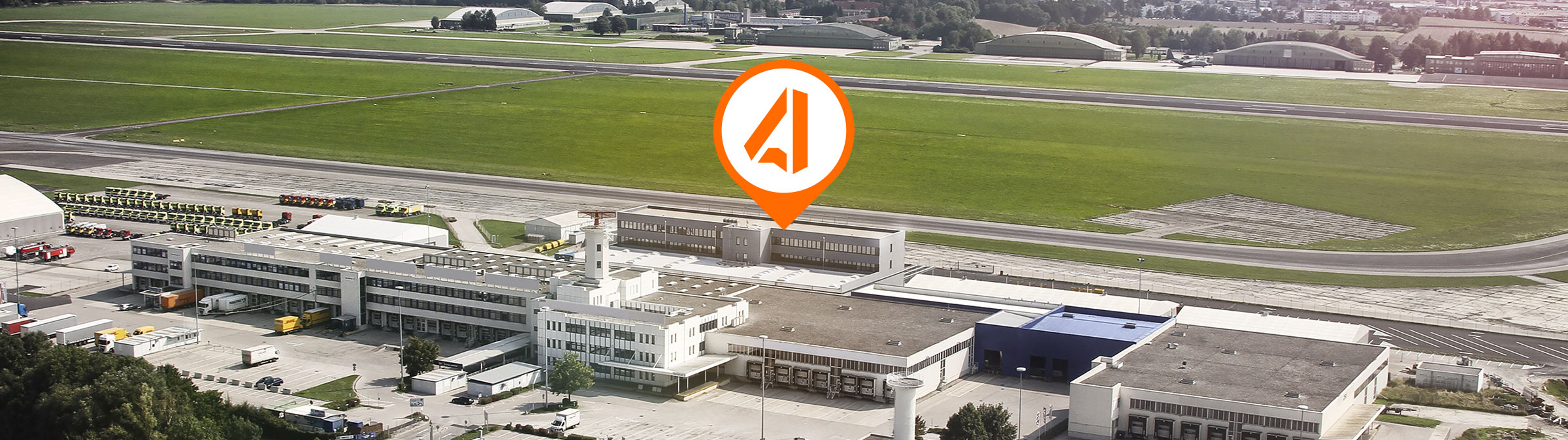 Aerial image of Airport Linz
