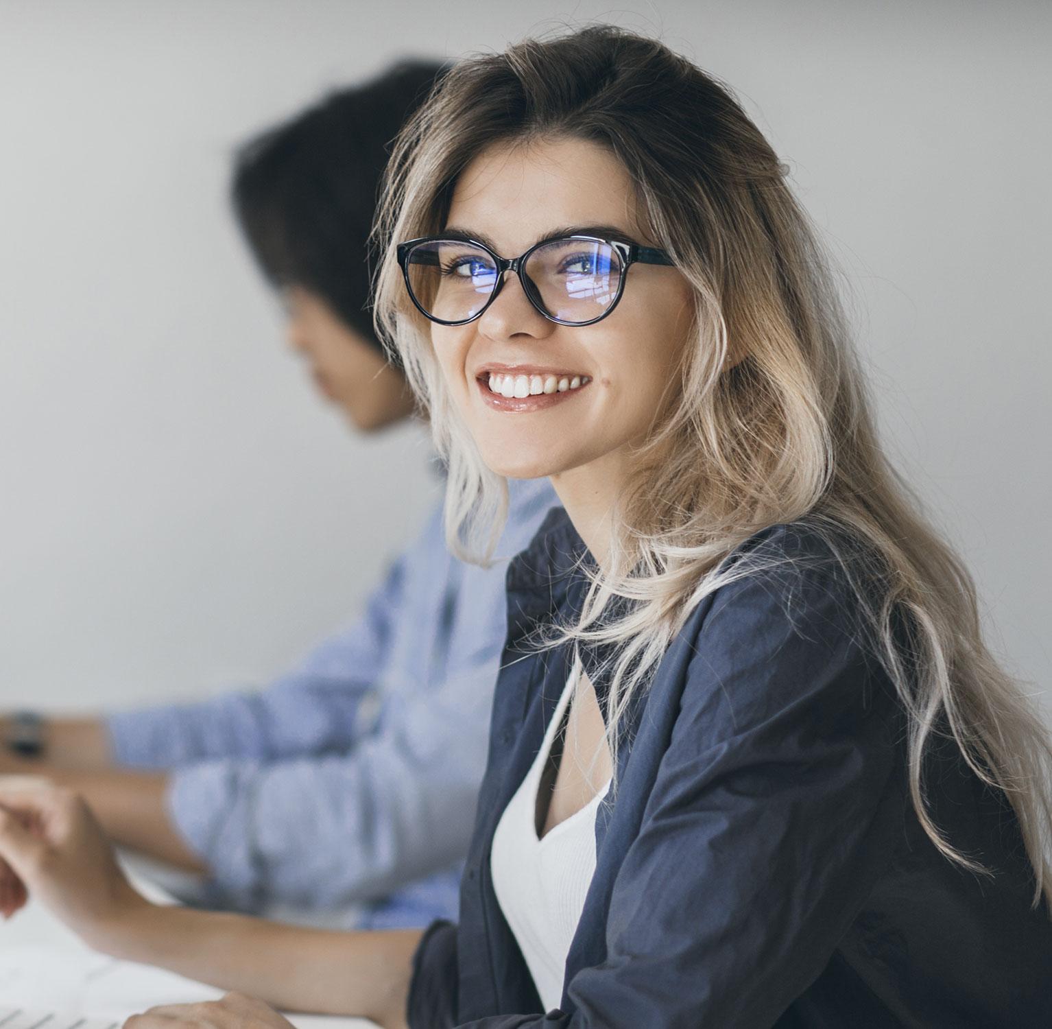 Female professional smiling