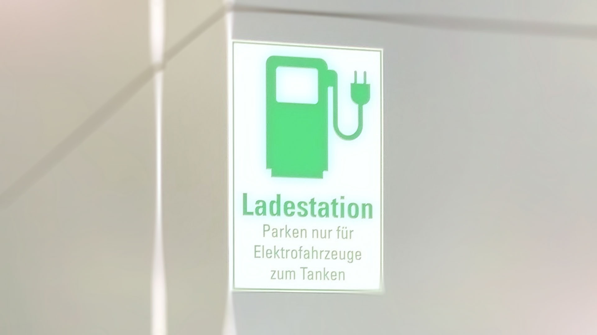 Sign of Charging Station for Cars